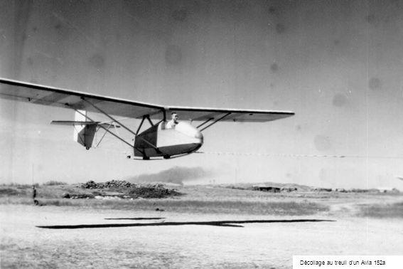 Décollage au treuil d'un Avia 152a