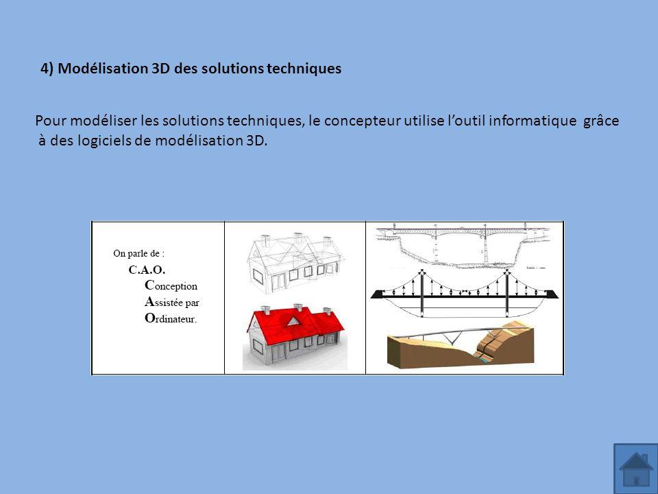 4) Modélisation 3D des solutions techniques