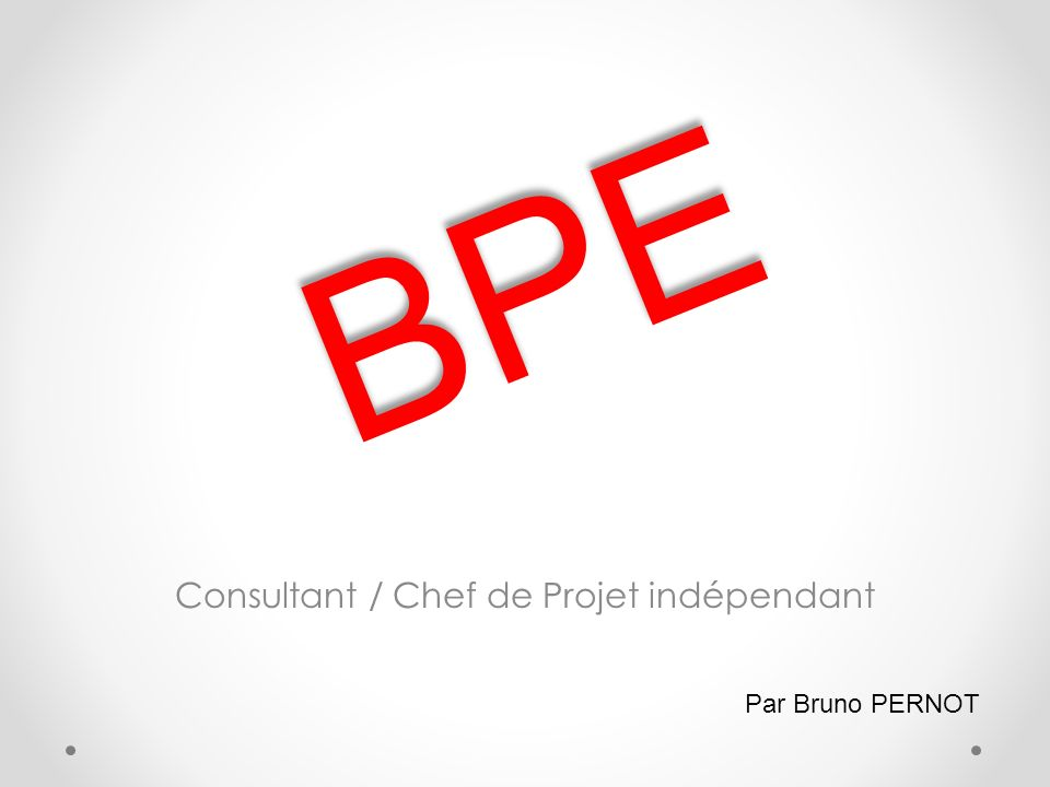 Consultant / Chef de Projet indépendant