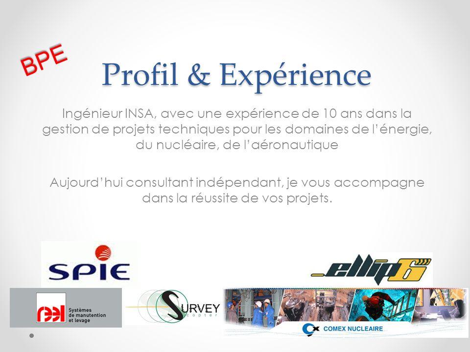 Profil & Expérience BPE