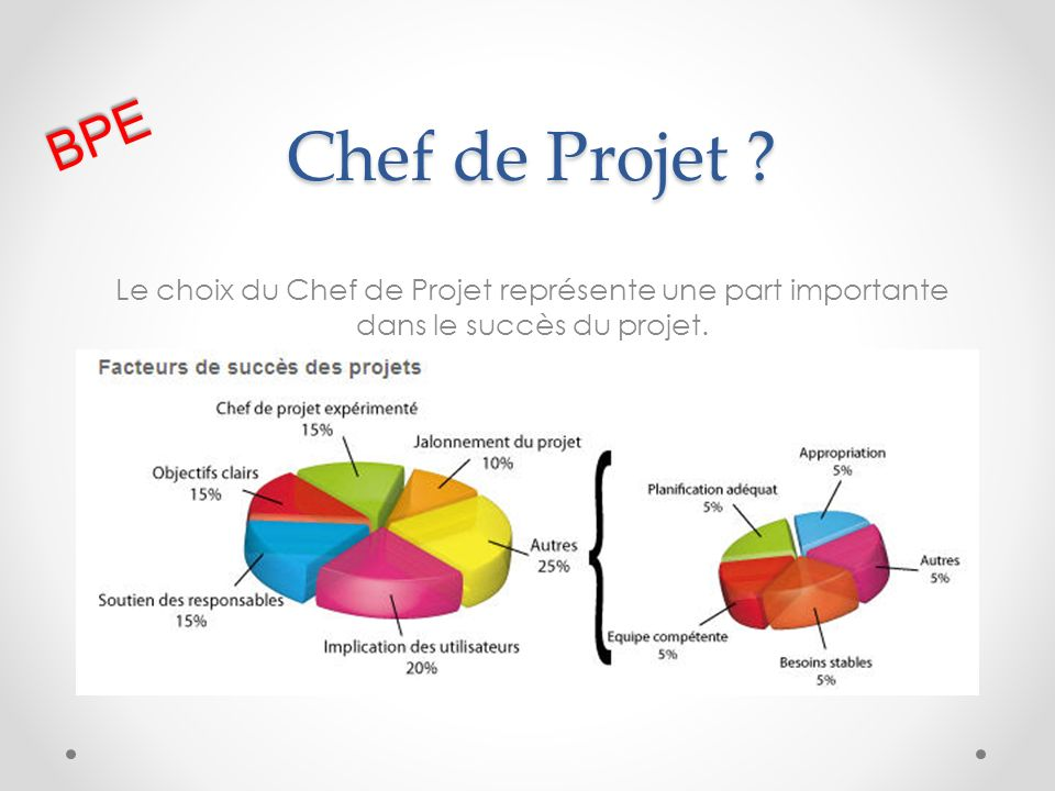 BPE Chef de Projet .