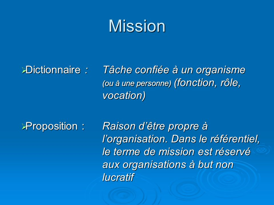 Mission Dictionnaire :