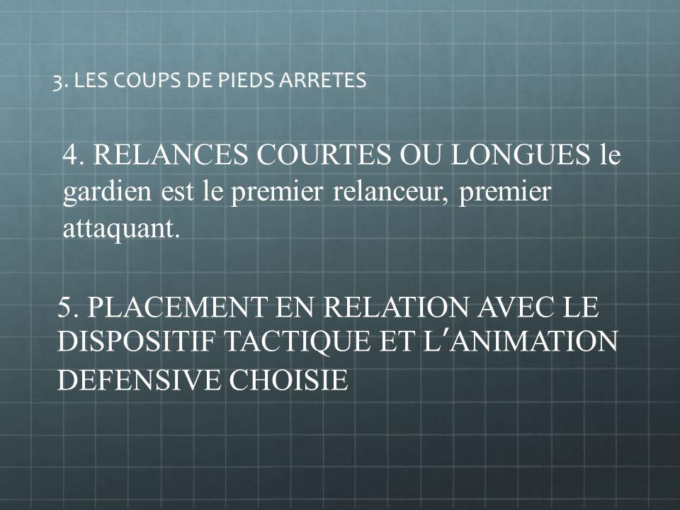 3. LES COUPS DE PIEDS ARRETES