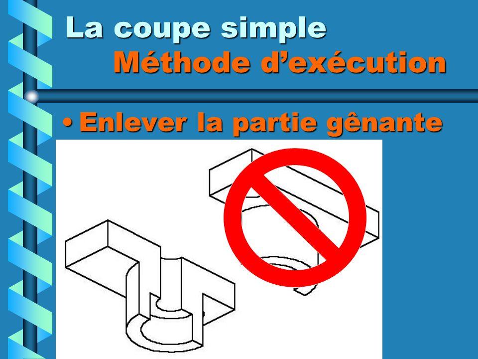 La coupe simple Méthode d'exécution