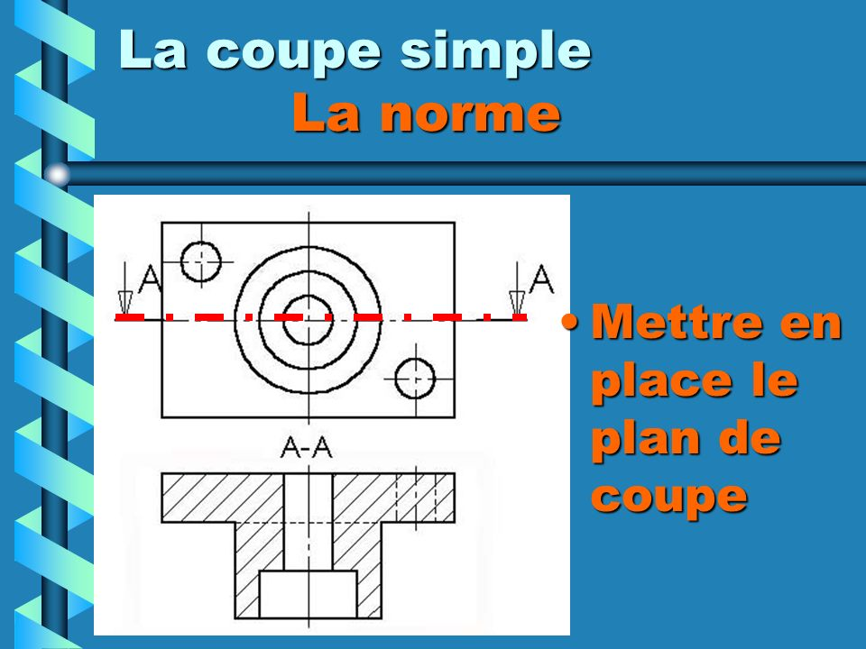 La coupe simple La norme