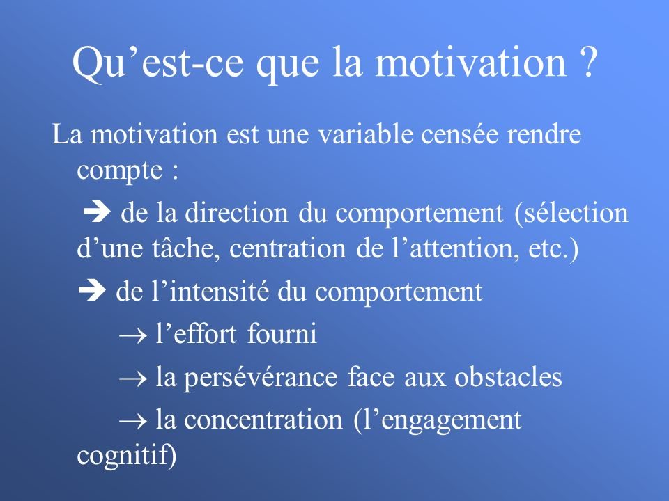 La motivation d accomplissement appliqu ppt t l charger for Qu est ce que la lasure
