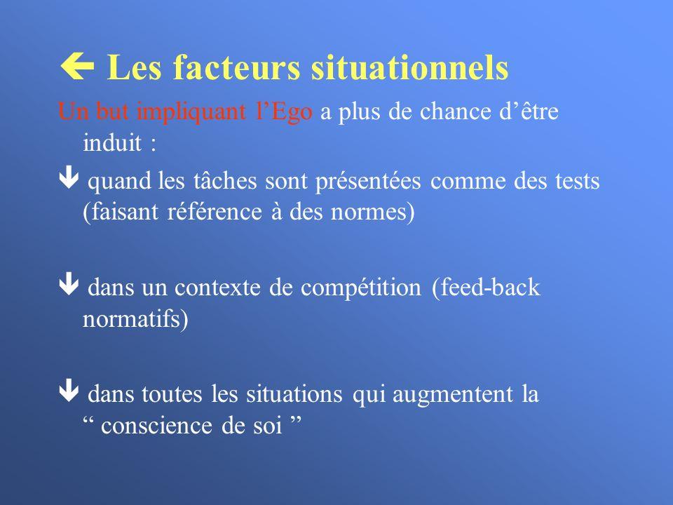  Les facteurs situationnels