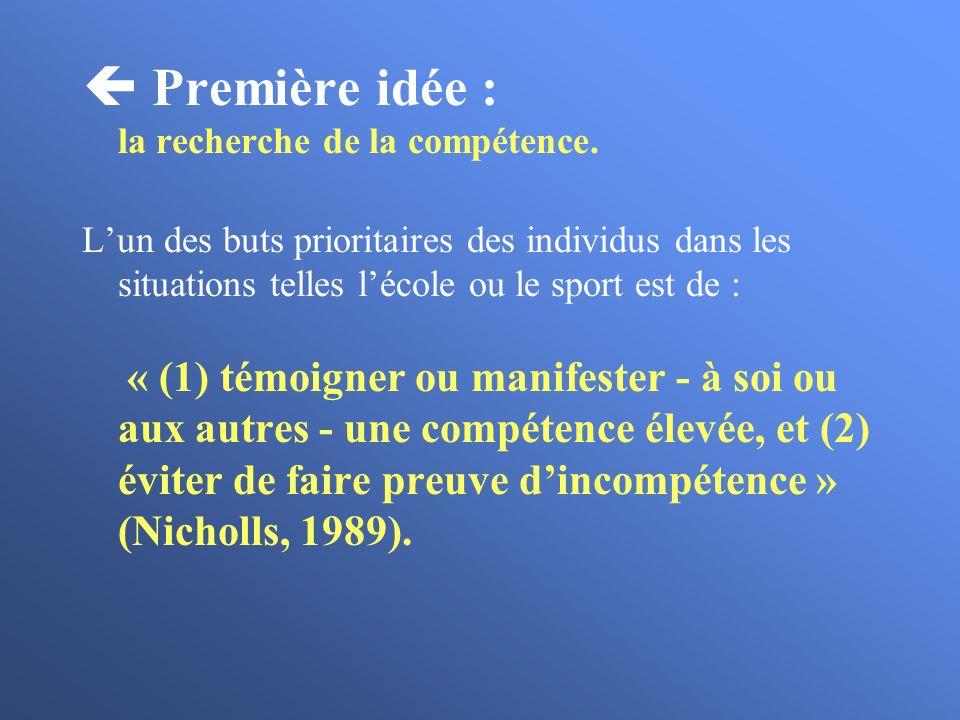  Première idée : la recherche de la compétence.