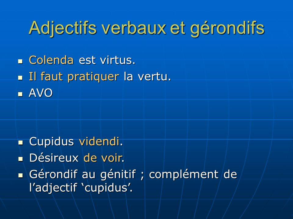 Adjectifs verbaux et gérondifs
