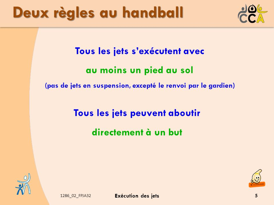 Deux règles au handball