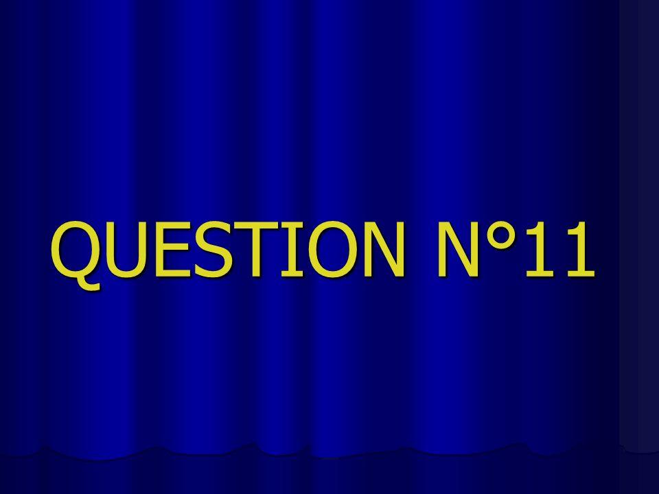 QUESTION N°11