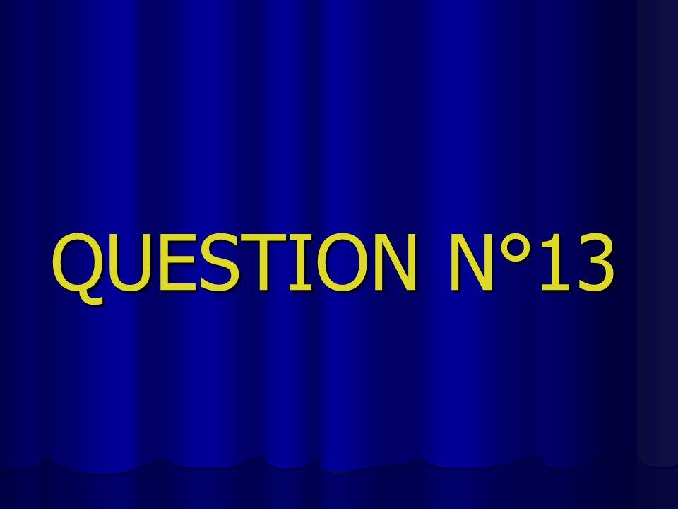 QUESTION N°13