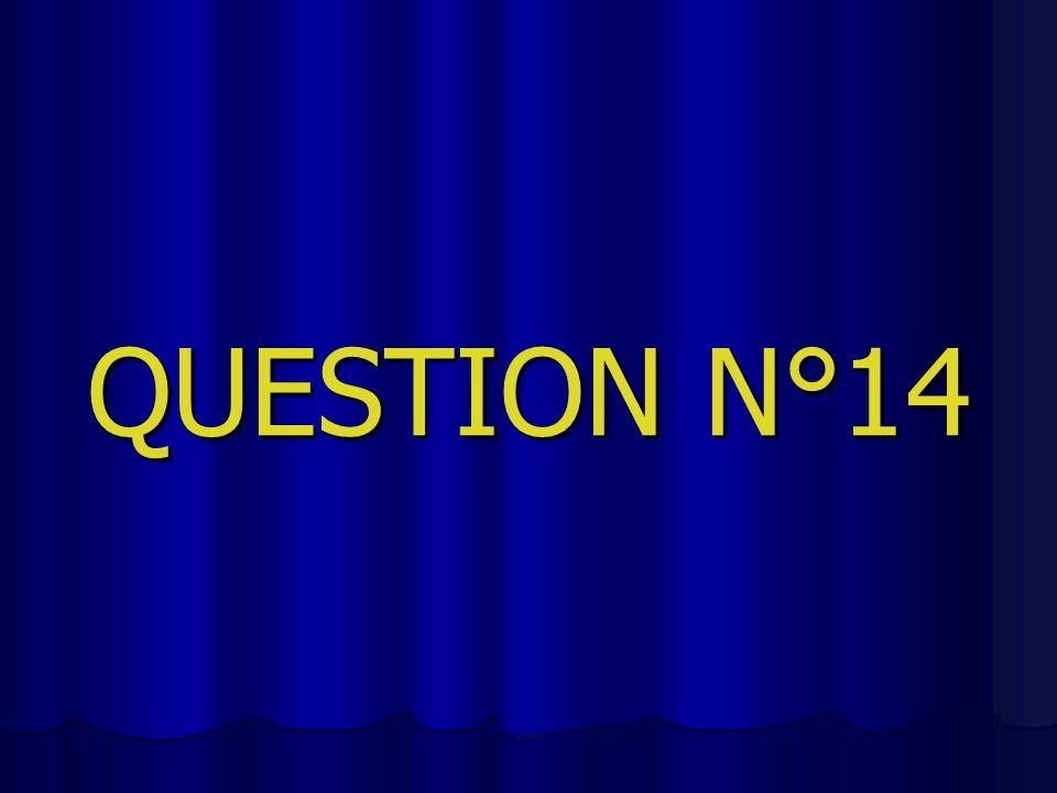 QUESTION N°14