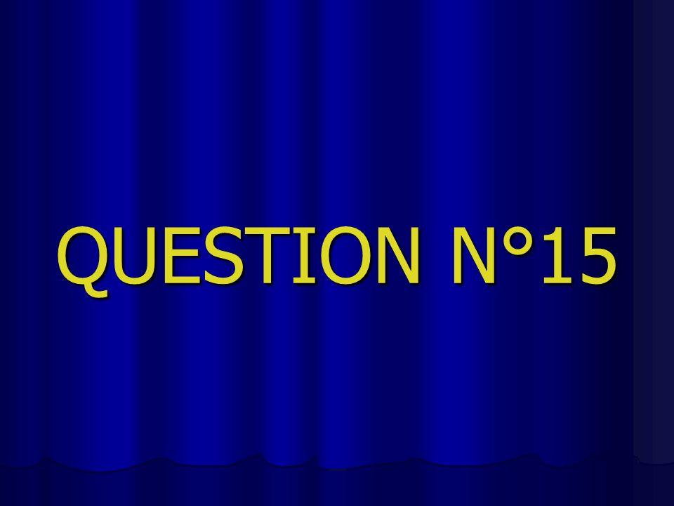 QUESTION N°15