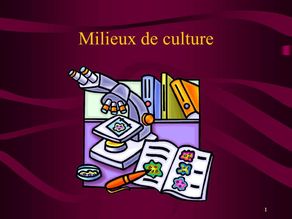 Milieux de culture