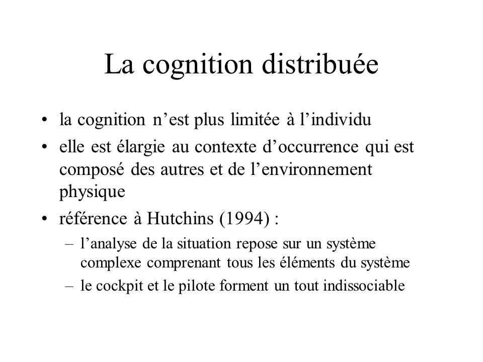 La cognition distribuée