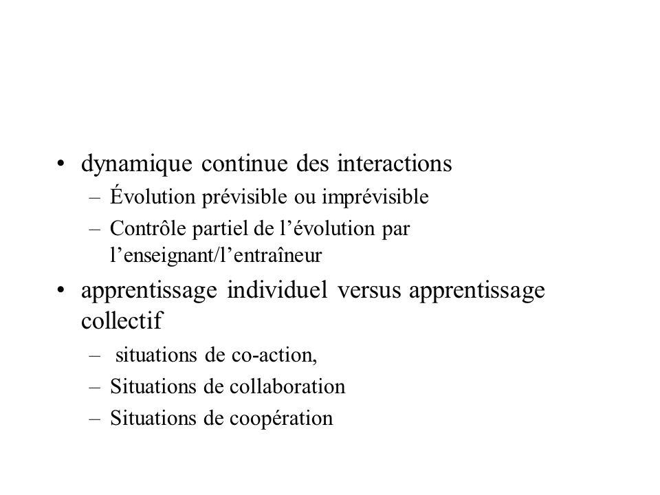 dynamique continue des interactions