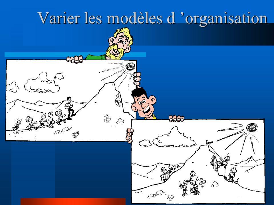 Varier les modèles d 'organisation