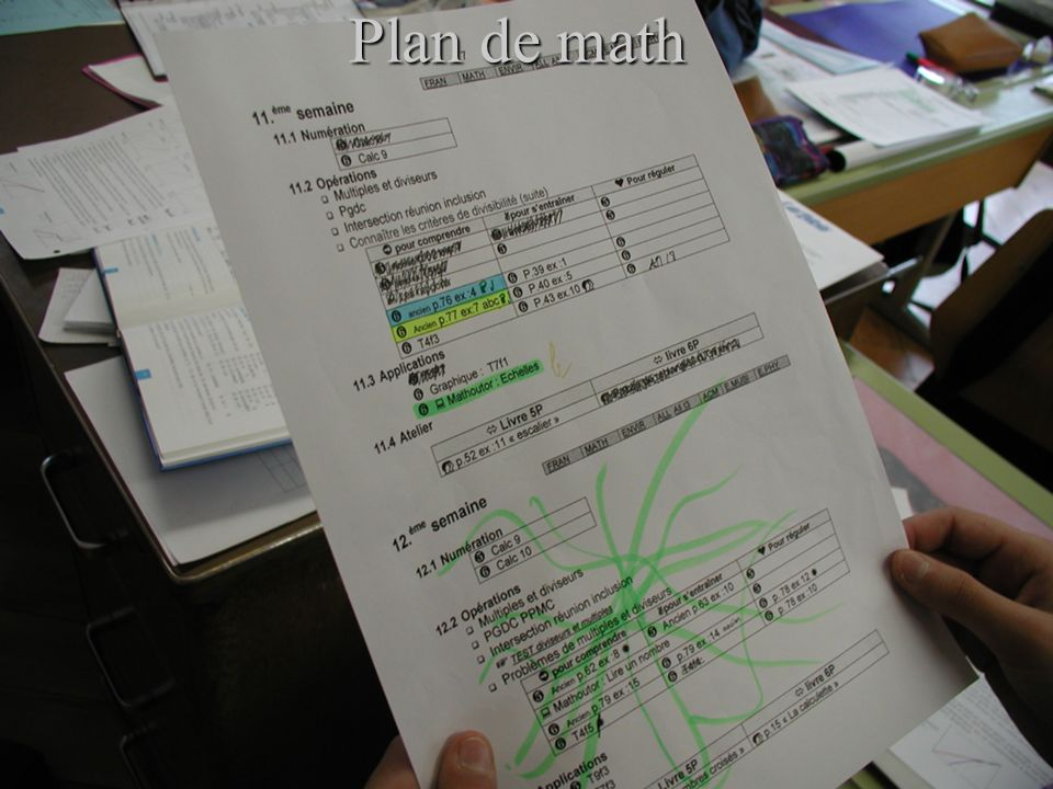 Plan de math