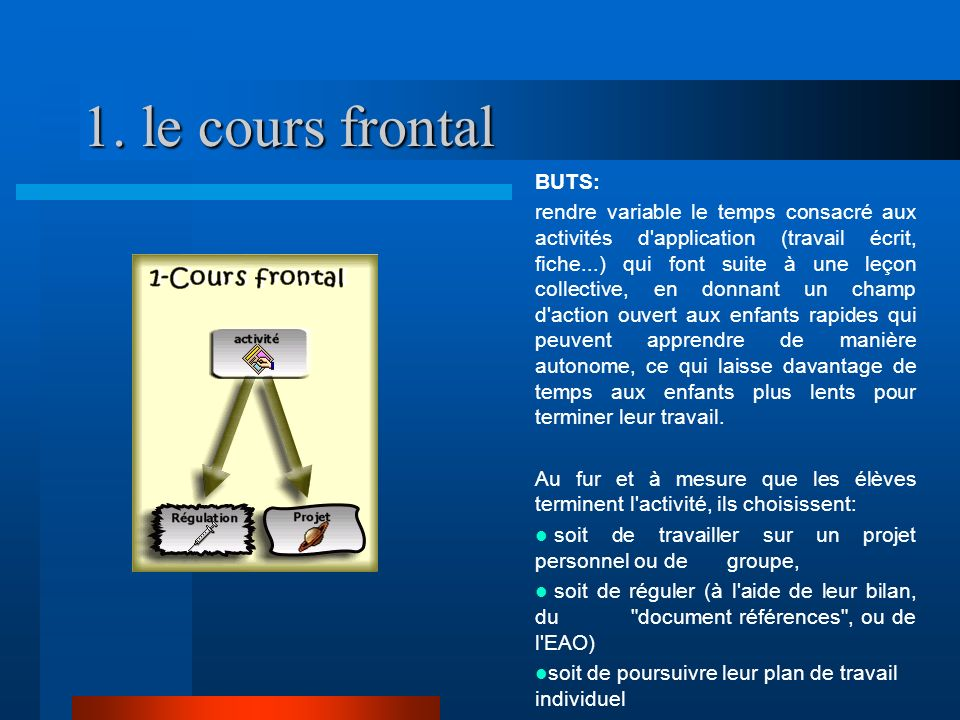 1. le cours frontal BUTS: