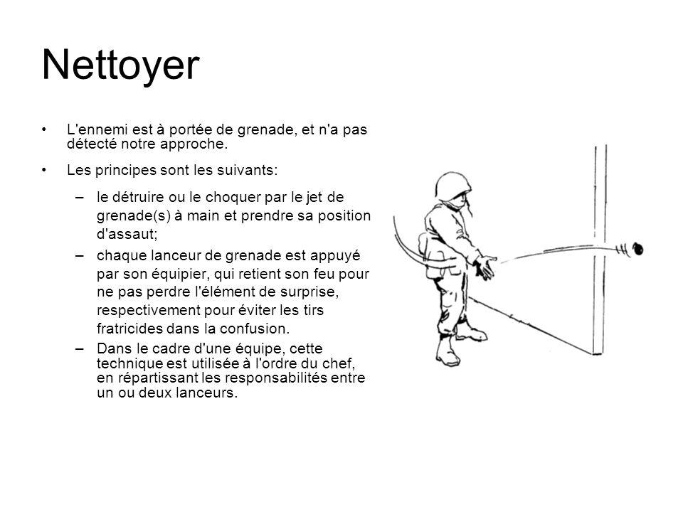 Nettoyer L ennemi est à portée de grenade, et n a pas détecté notre approche. Les principes sont les suivants: