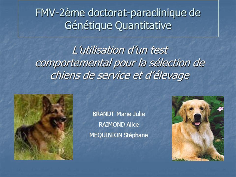 FMV-2ème doctorat-paraclinique de Génétique Quantitative