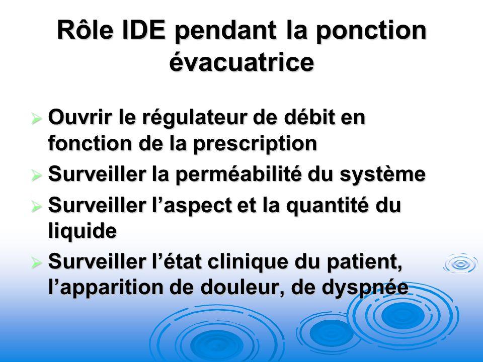Rôle IDE pendant la ponction évacuatrice