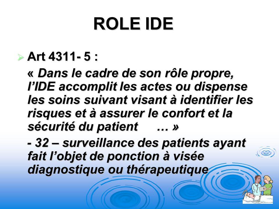 ROLE IDE Art 4311- 5 :