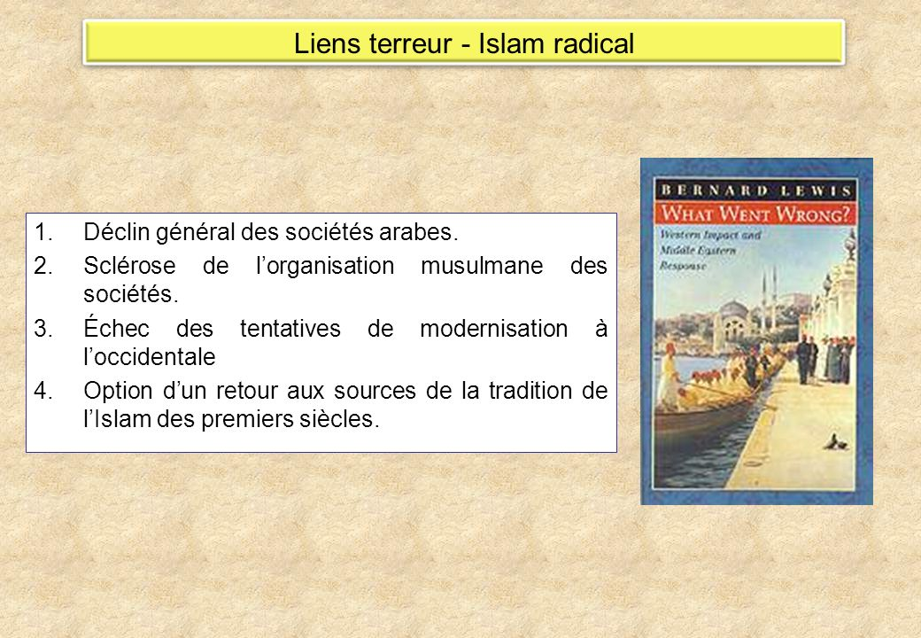 Liens terreur - Islam radical