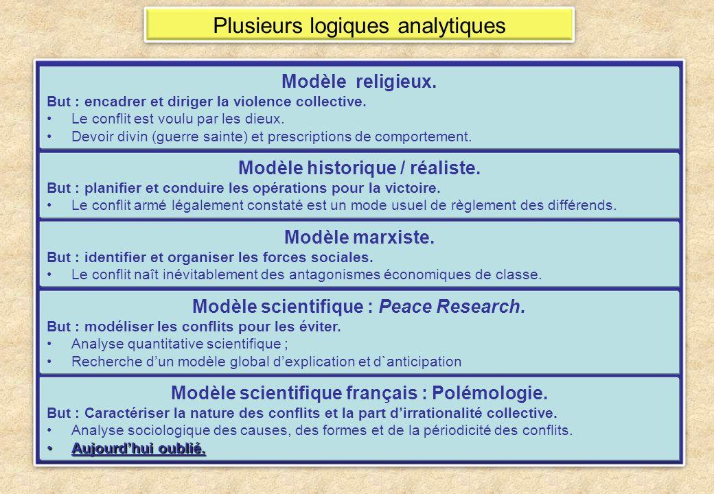 Plusieurs logiques analytiques