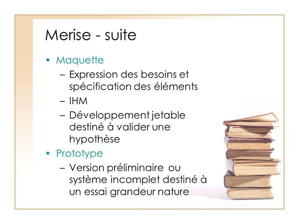 Merise - suite Maquette