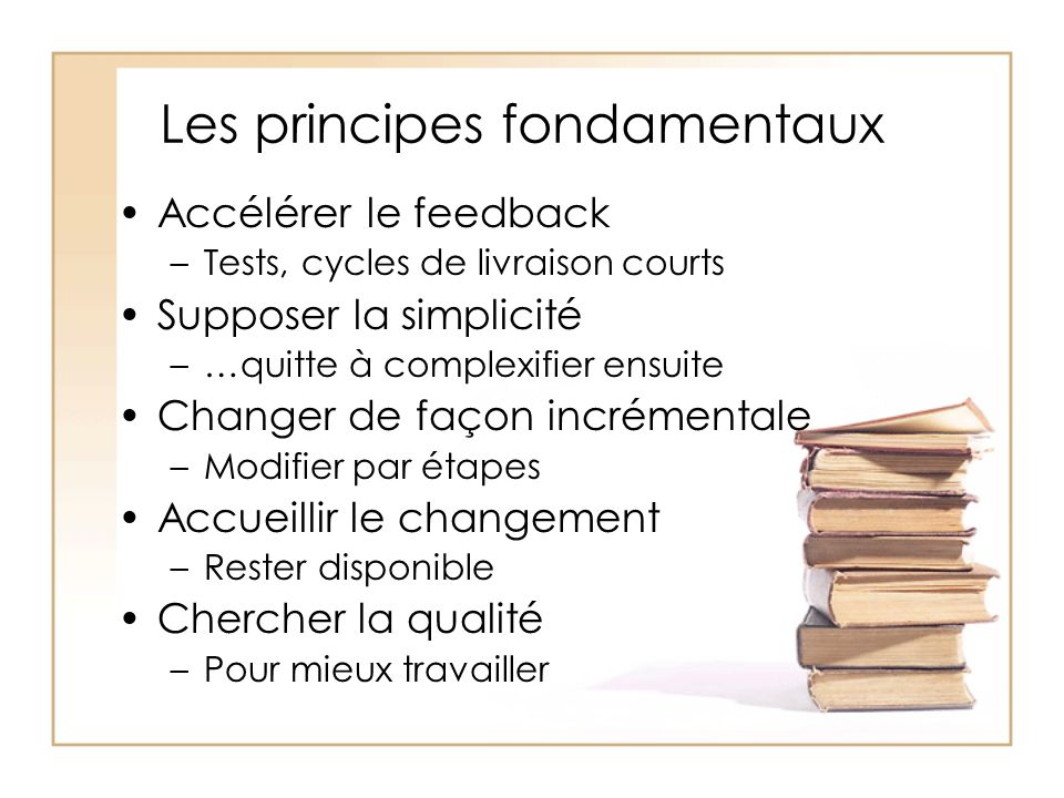 Les principes fondamentaux