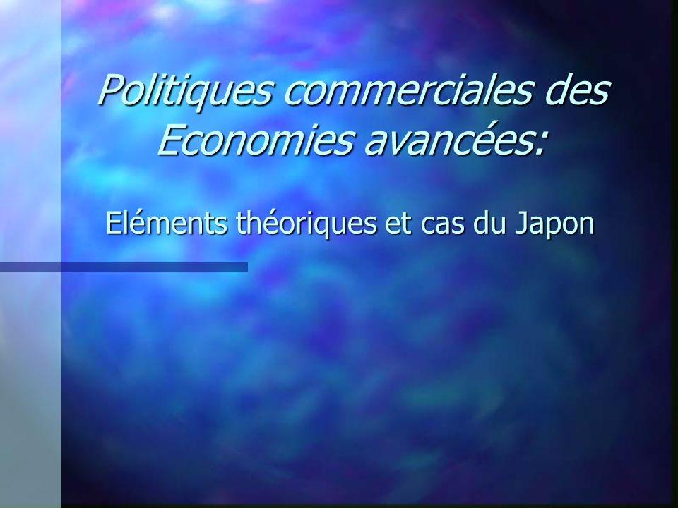 Politiques commerciales des Economies avancées: Eléments théoriques et cas du Japon