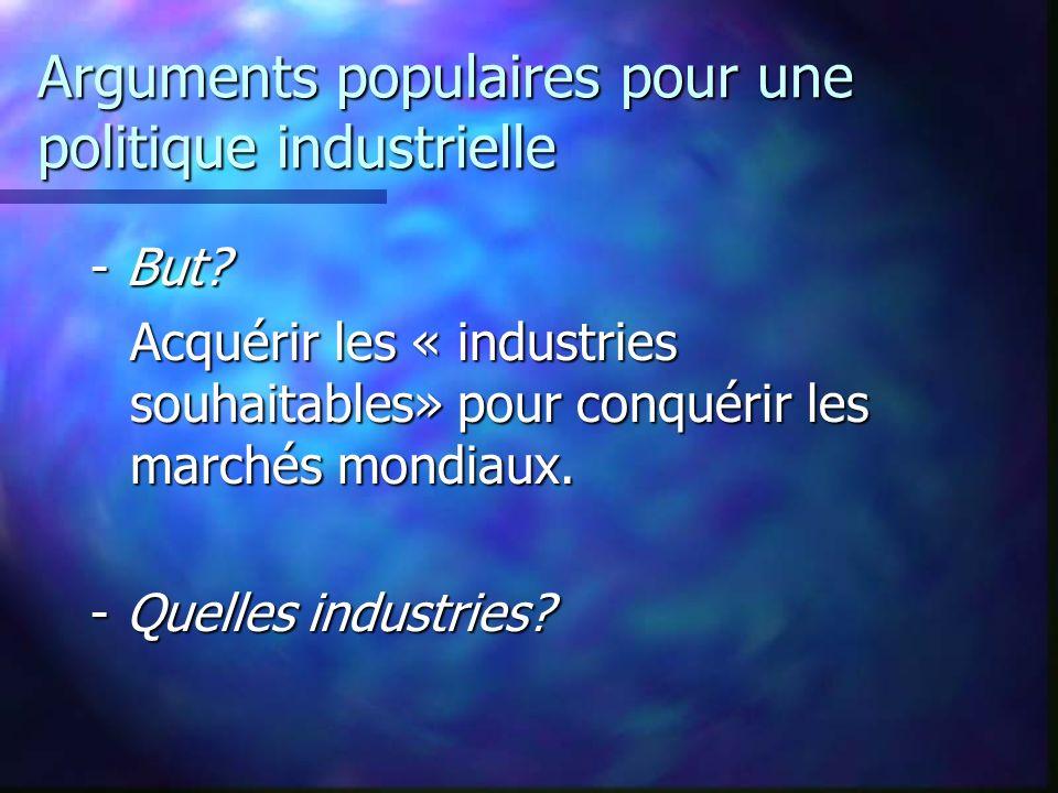 Arguments populaires pour une politique industrielle