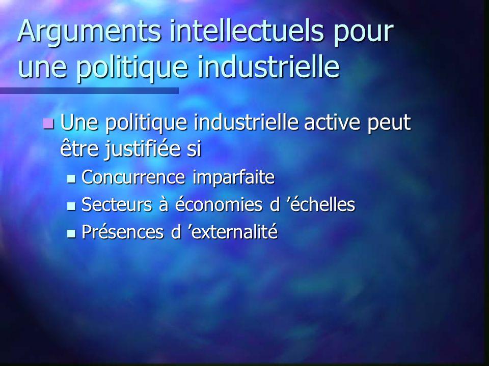 Arguments intellectuels pour une politique industrielle