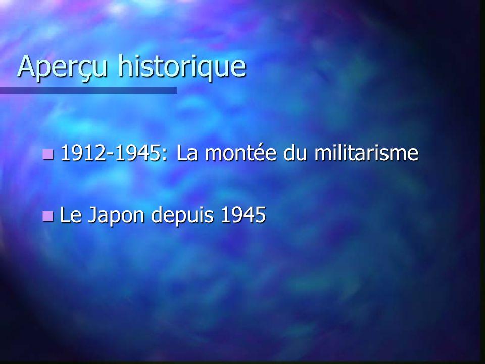 Aperçu historique 1912-1945: La montée du militarisme