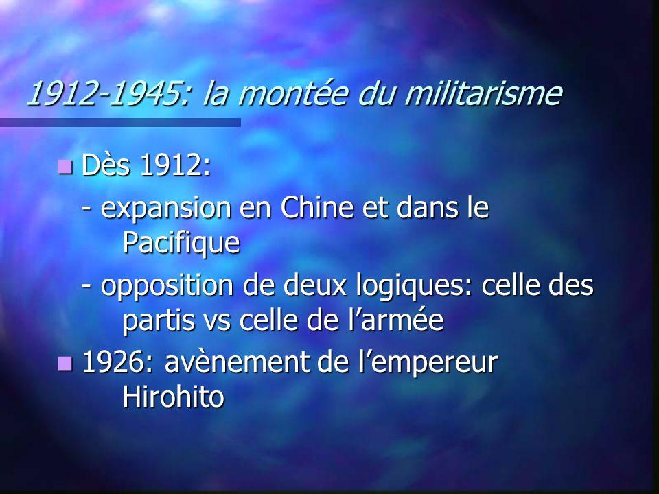 1912-1945: la montée du militarisme