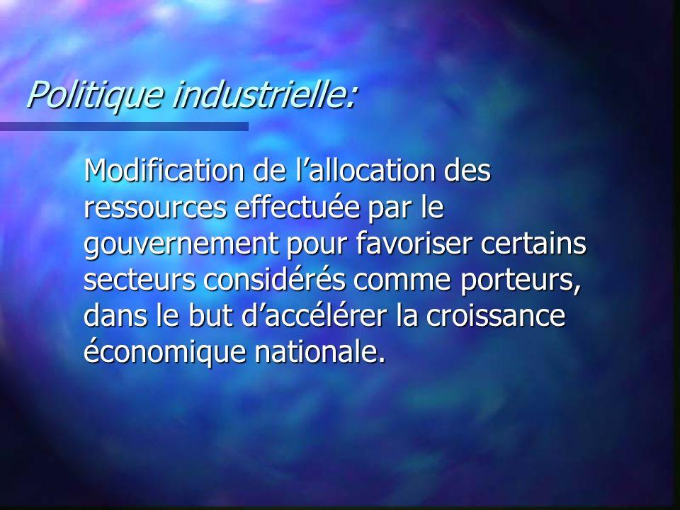 Politique industrielle: