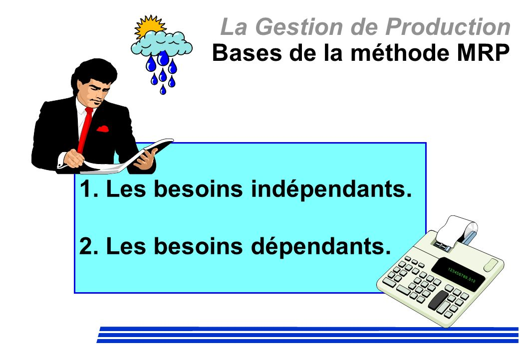 La Gestion de Production Bases de la méthode MRP