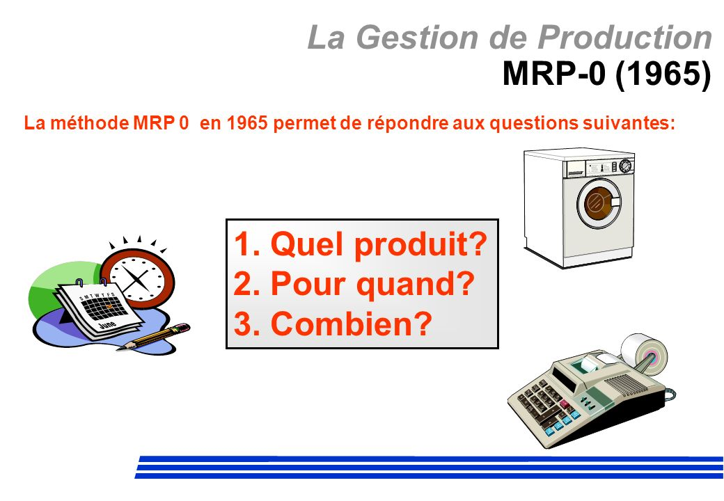 La Gestion de Production MRP-0 (1965)