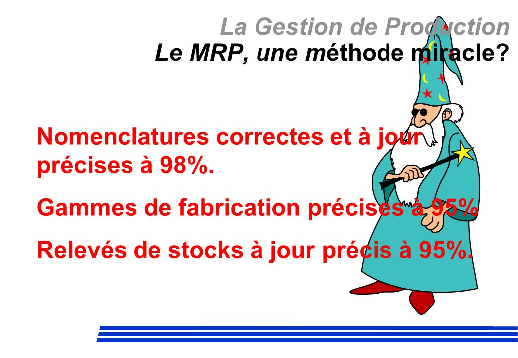 La Gestion de Production Le MRP, une méthode miracle