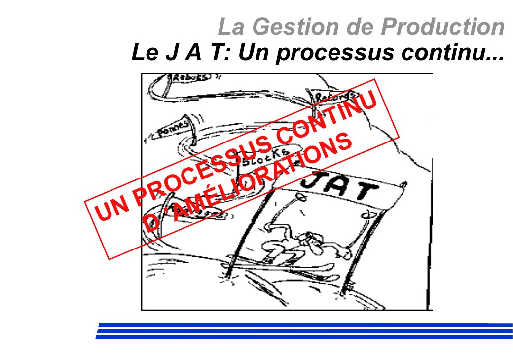 La Gestion de Production Le J A T: Un processus continu...