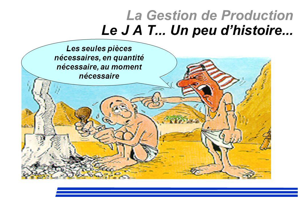 La Gestion de Production Le J A T... Un peu d'histoire...