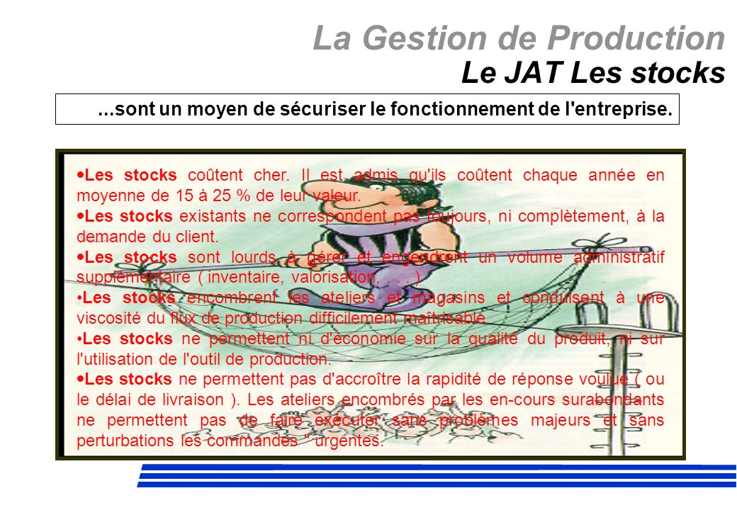 La Gestion de Production Le JAT Les stocks