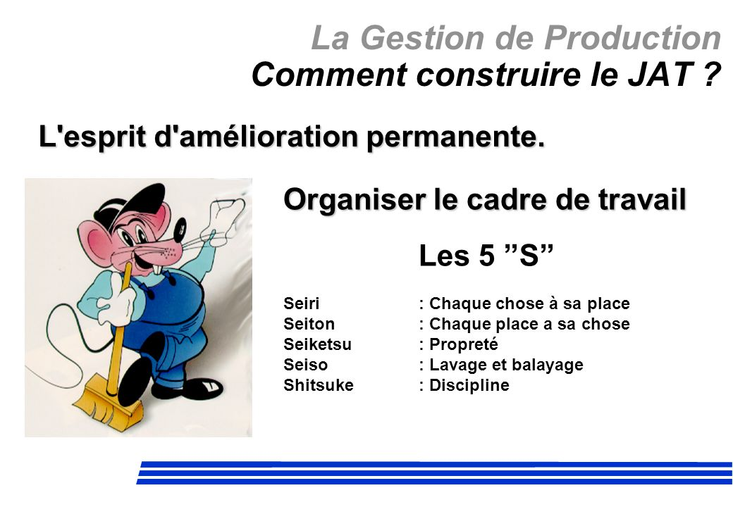 La Gestion de Production Comment construire le JAT