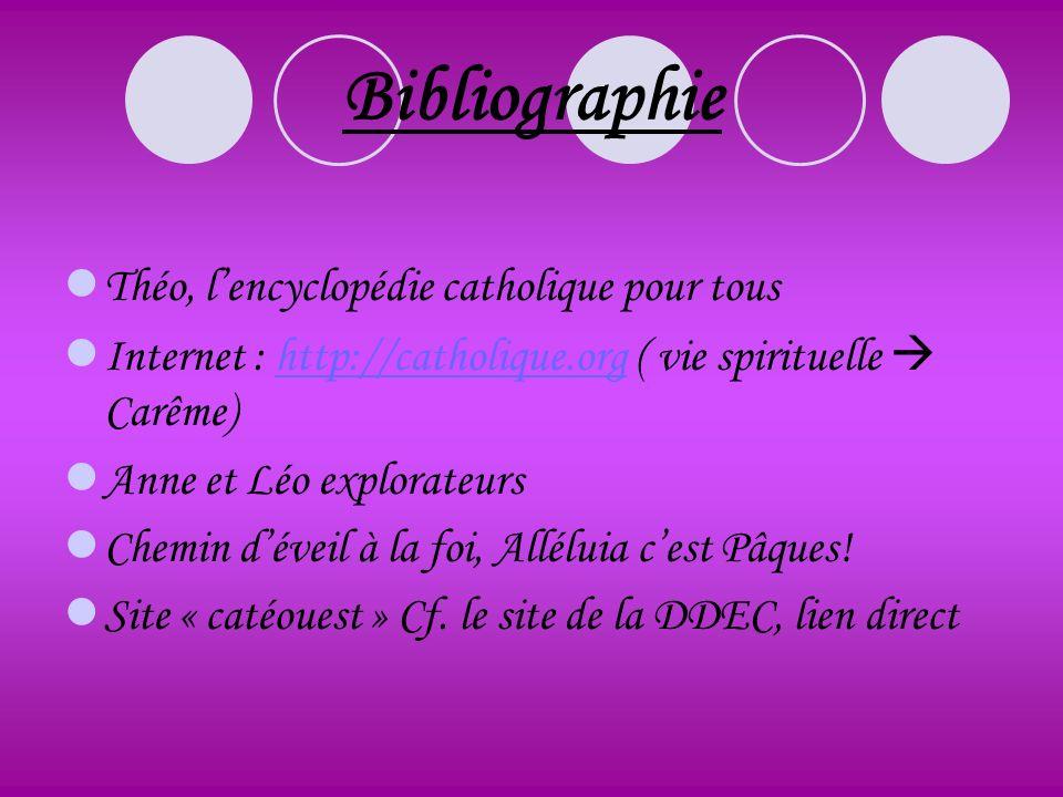 Bibliographie Théo, l'encyclopédie catholique pour tous