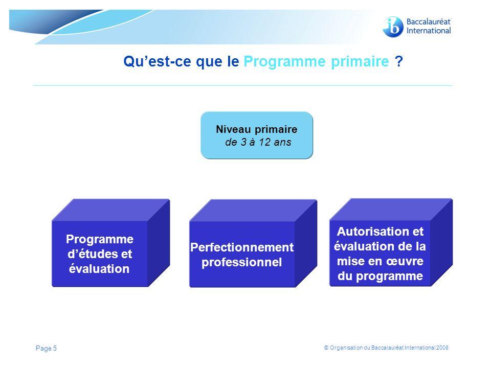 Qu'est-ce que le Programme primaire