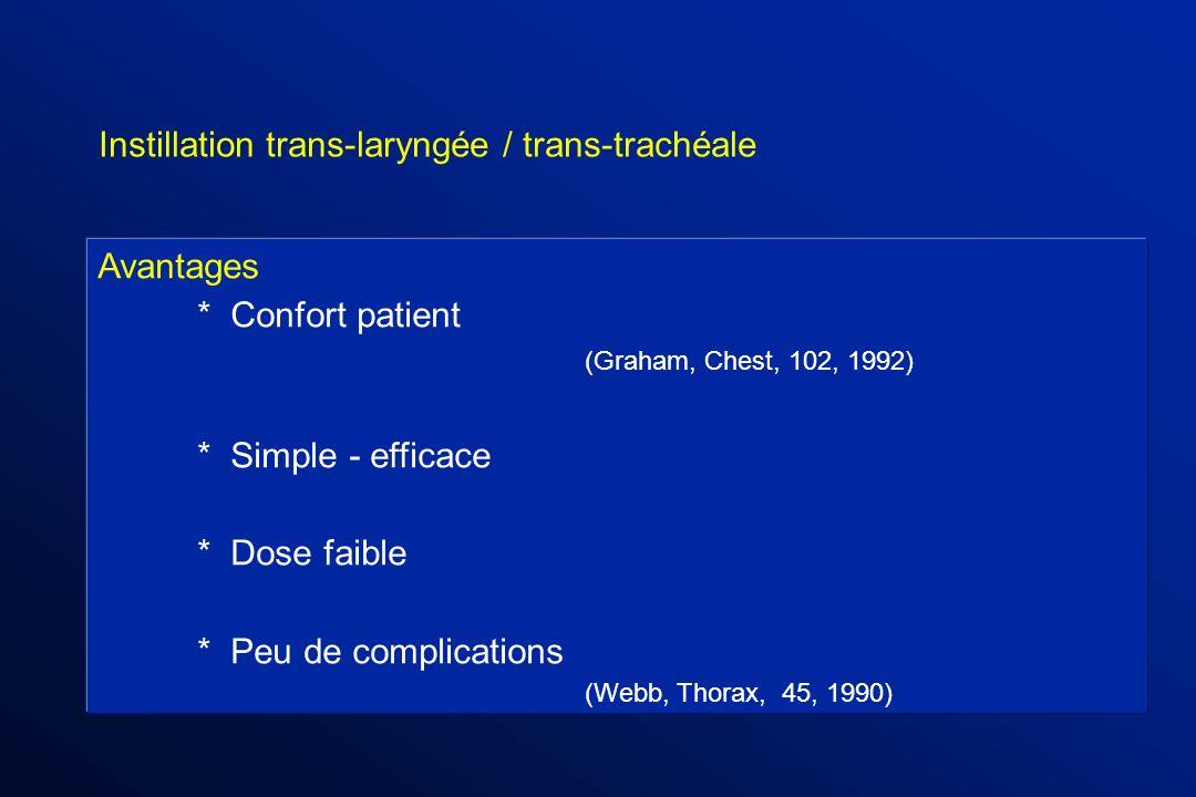 Instillation trans-laryngée / trans-trachéale