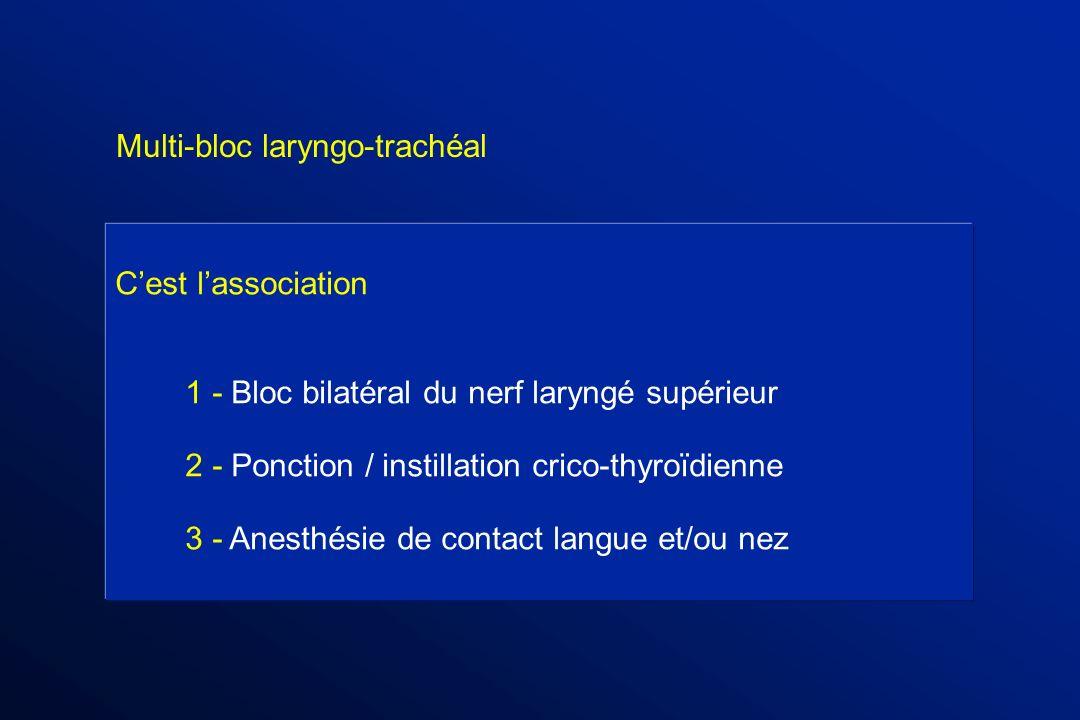 Multi-bloc laryngo-trachéal