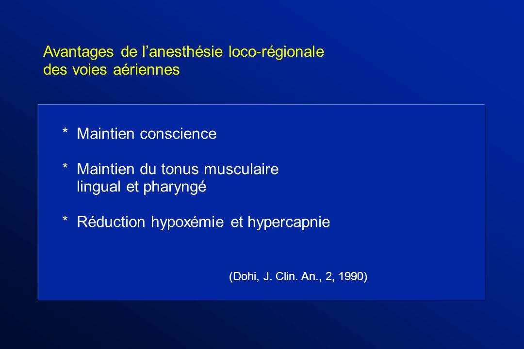 Avantages de l'anesthésie loco-régionale